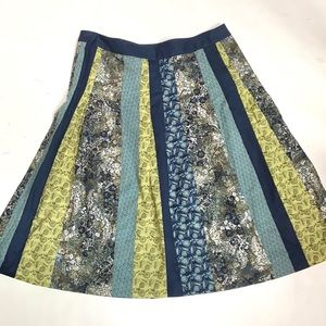 Anthropologie Tapemeasure Patchwork Skirt
